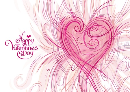 Greeting card for Valentine s Day Illustration