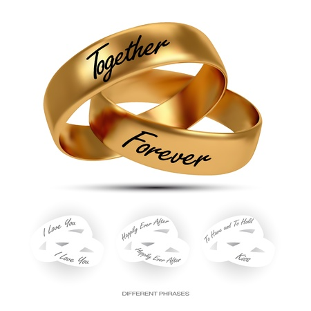 wedding ring: Anillo de bodas. AI Gradient Mesh Vectores