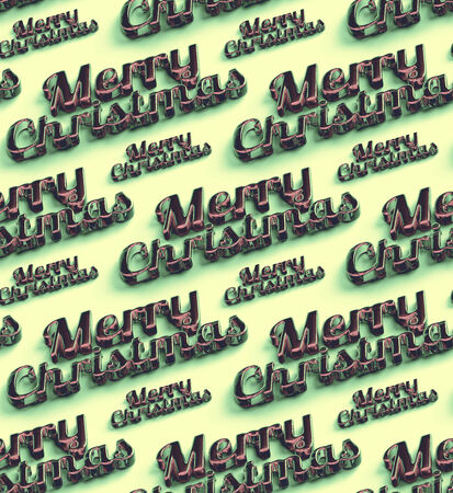 Merry Christmas  words. Seamless Stock Photo