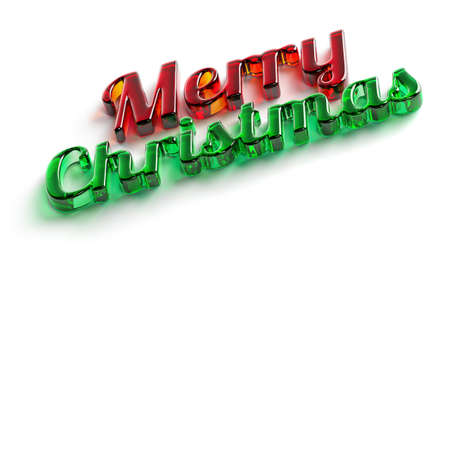 Merry Christmas Isolated Text