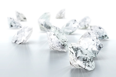diamond background: brilliant diamond jewel (high resolution 3D image)