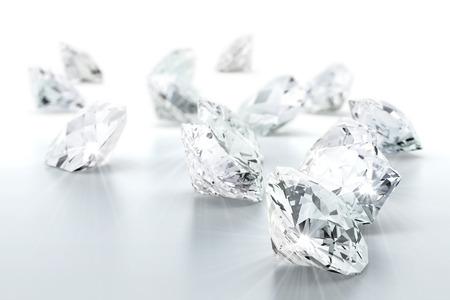 coeur diamant: diamant taille brillant joyau (image à haute résolution 3D) Banque d'images