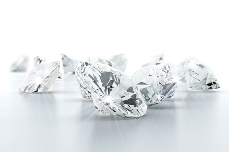 in jewelry: brilliant diamond jewel (high resolution 3D image)