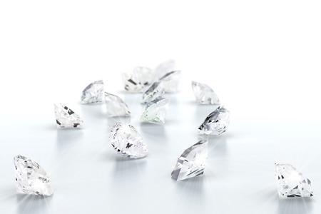 Brillante joya de diamantes (alta resolución de imágenes en 3D) Foto de archivo - 37150202