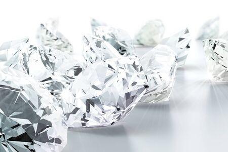 diamante: brillante joya de diamantes (alta resoluci�n de im�genes en 3D)