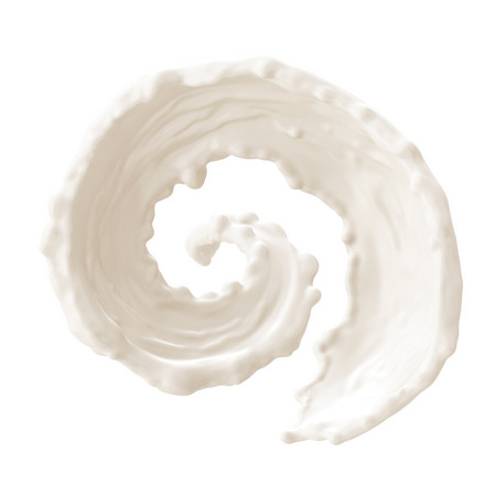 우유는 흰색 배경에 수집, 고립 된 밝아진 스톡 콘텐츠