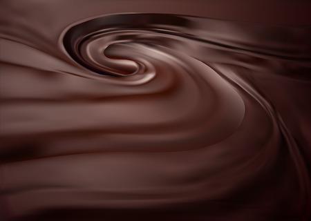 chocolate melt: Cioccolato turbolenza sfondo. Pulito, dettagliata di massa choco fusa. Vettoriali
