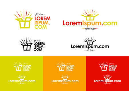 online store. Template  of online shop company with packages. Vettoriali