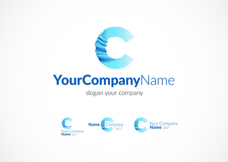 logo marketing: Modern icon design C letter shape element. Best for identity and logotypes. Illustration