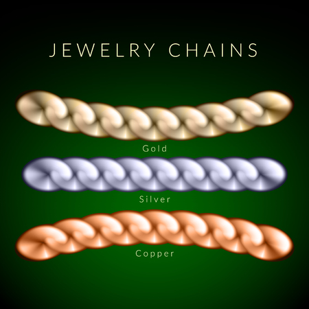 Set of chains made of different metals.