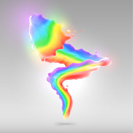 Spruzzi di vernice arcobaleno colore per lo sfondo Archivio Fotografico - 54597438