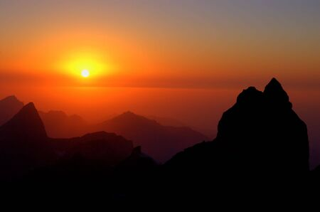 Sunset in mountains Stock Photo - 3125307