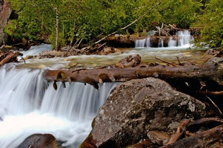 froth: Nice alpine stream shot with long exposure