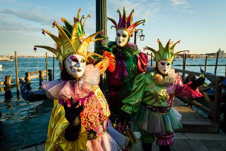 Maskers van Venetië Carnaval Stockfoto - 35559654