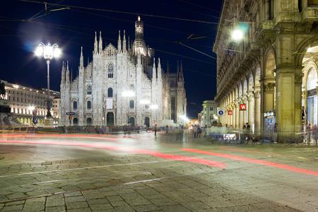 vespers: Milan cathedral at night