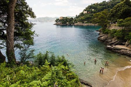 bathers: Beach with bathers