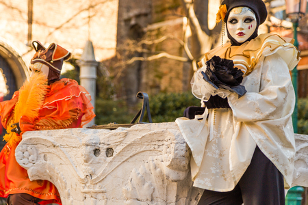 article of clothing: Carnival mask in Venice