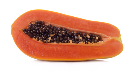 cutaneous: papaya on white background