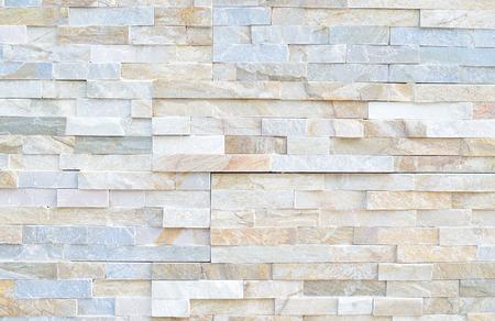 Muster der weißen modernen Stein Backsteinmauer Oberfläche