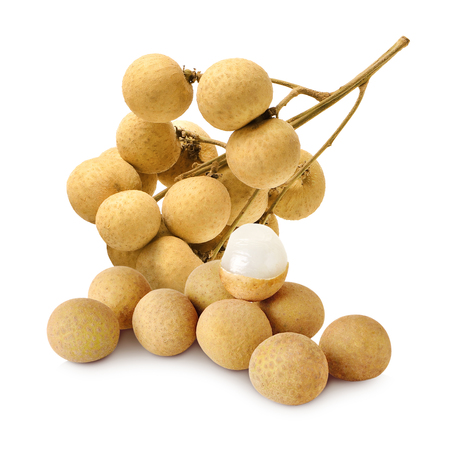 longan on white background