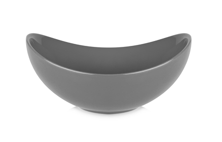 Gray bowl isolated on white  background