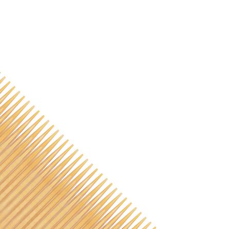 Wooden toothpicks on white background Reklamní fotografie - 125665352