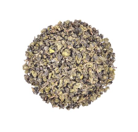 Tea leaves isolated on white background Stock Photo