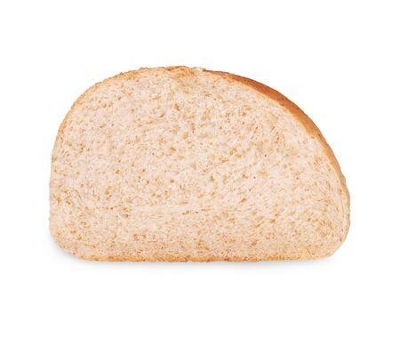pain de mie isolé sur fond blanc