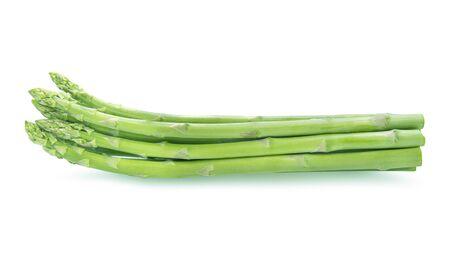 Fresh green asparagus isolated on white background Reklamní fotografie