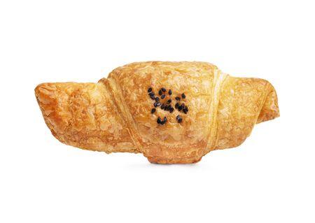 freshly baked croissant isolated on white background Reklamní fotografie