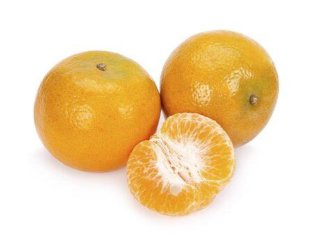 Orange fruit. Orange slice isolate on white background