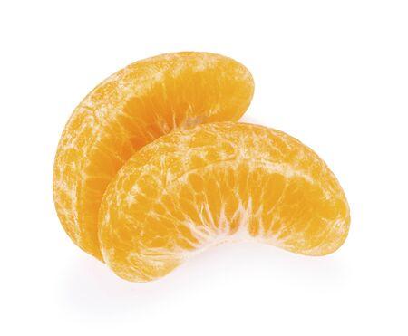 Fresh Orange fruit. Orang slice isolate on white background Reklamní fotografie