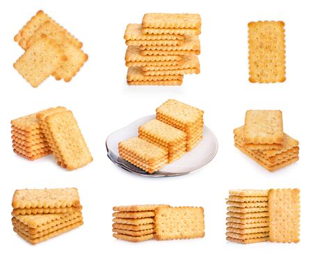 Multi biscuits isolated on white background Reklamní fotografie