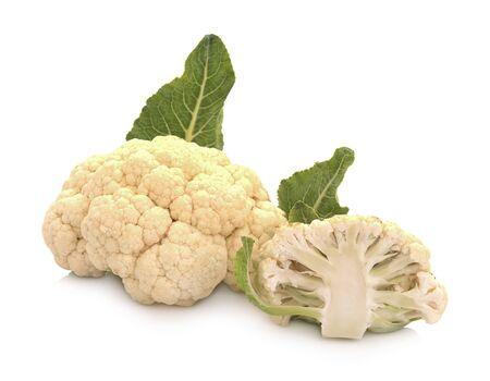Fresh cauliflower on white background Reklamní fotografie