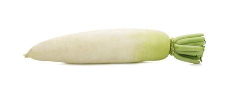 Fresh white Radish isolated on white background