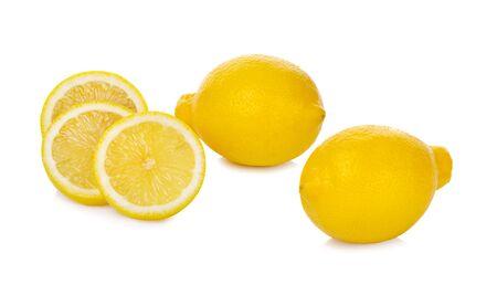 Fresh lemon isolated on white background Reklamní fotografie