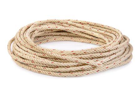 Rope on white background isolated
