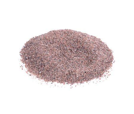 Black Himalayan salt (Namak shell salt) or Black salt of South Asia isolated on a white background