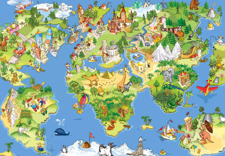 Funny look to our world. You can print this map to the your wall:) Stock Photo - 956446