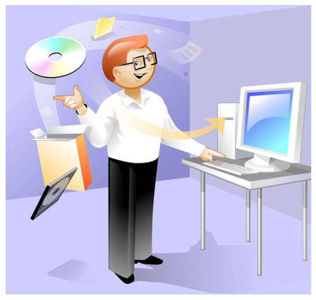 Magic install of software Stock Photo - 1787315