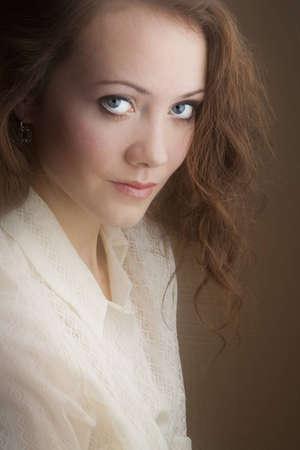 interesting portrait of a girl