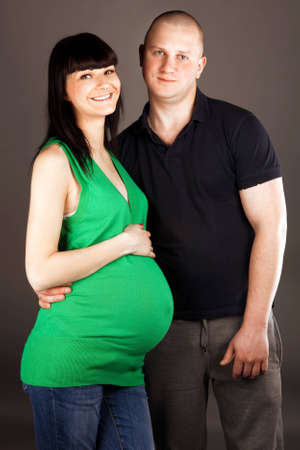hause: couple getting ready to become parents Stock Photo