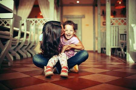 Girl, both happy