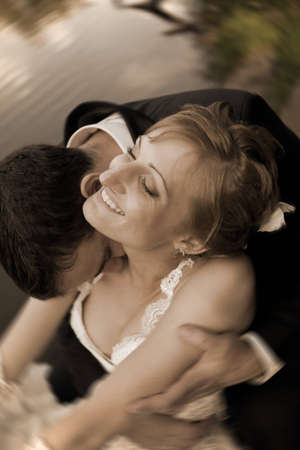 in love with a man kisses his beloved