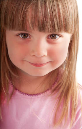 little girl smiling close-up Stock Photo - 13376258