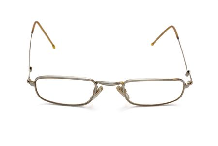 helthcare: Photo of spectacles wih thin rim isolated over white