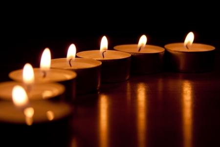 luz de velas: Velas  Foto de archivo