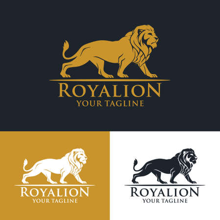 Logo template for your business, lion symbol. Logo template 100% vector Fully editable & customis Ilustração