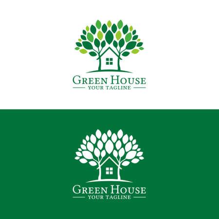 Green House Logo Template Logo