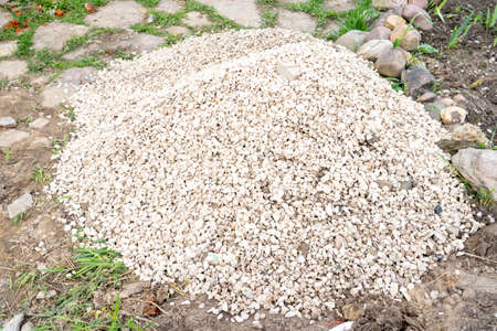 crushed stone for the construction of houses Imagens